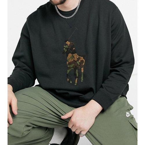 Big & Tall - Sweat-shirt ras de cou motif camouflage en tissu éponge à logo joueur de polo - Polo Ralph Lauren - Modalova