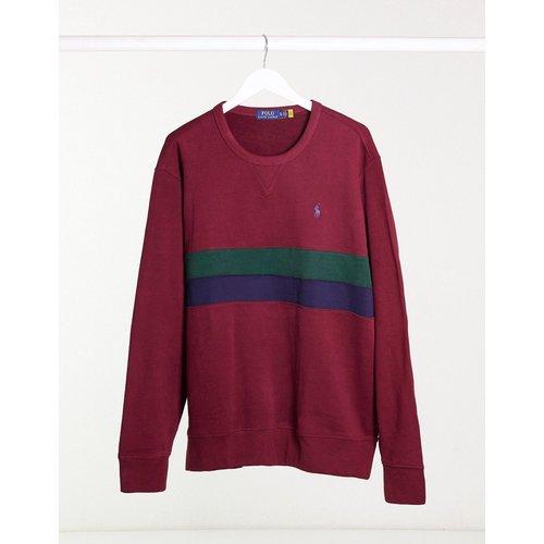 Sweat-shirt avec deux bandes - Bordeaux multicolore - Polo Ralph Lauren - Modalova