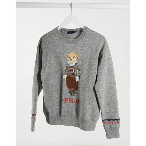 Sweat-shirt ras de cou à emblème ours et logo - Polo Ralph Lauren - Modalova