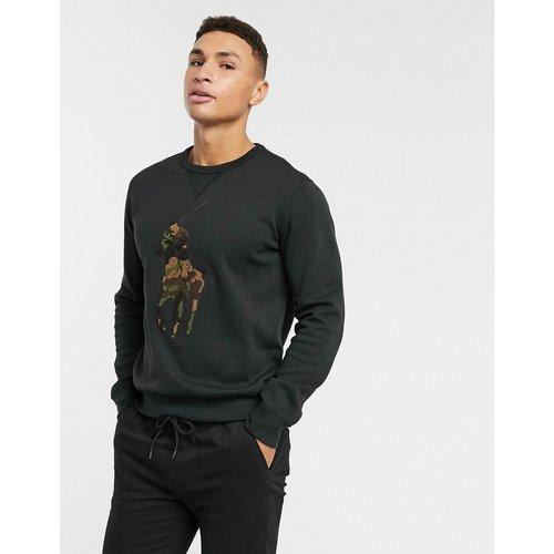 Sweat-shirt ras de cou en tissu éponge avec grand logo joueur de polo à motif camouflage - Polo Ralph Lauren - Modalova