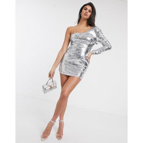 Robe asymétrique à sequins - Pretty Darling - Modalova