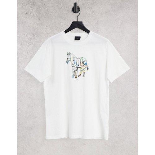 T-shirt avec fleur à imprimé zèbre effet cartoon - PS Paul Smith - Modalova