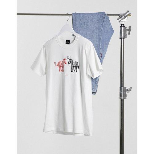 T-shirt coupe slim à imprimé zèbre ange et démon - PS Paul Smith - Modalova