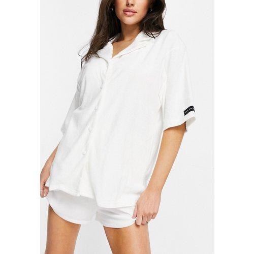 Chemise de pyjama d'ensemble en tissu éponge - cassé - Public Desire - Modalova