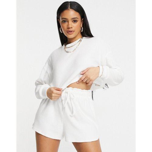 Sweat-shirt court d'ensemble en tissu éponge - Public Desire - Modalova