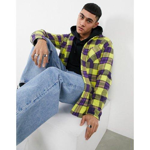 Chemise à carreaux - Jaune et - Pull&Bear - Modalova