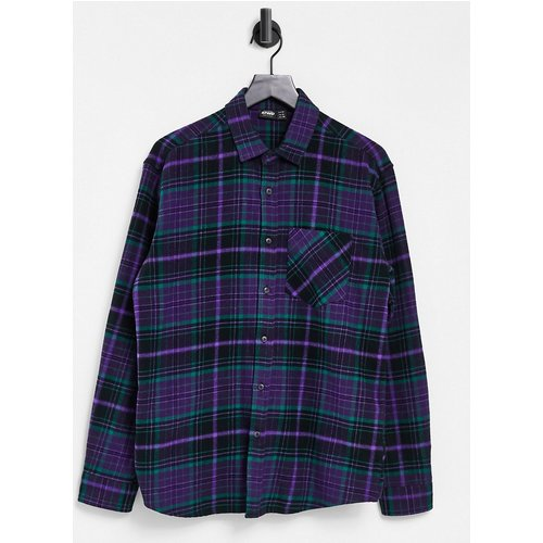 Chemise à carreaux - Vert et - Pull&Bear - Modalova