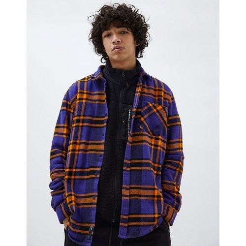 Chemise à carreaux - et orange - Pull&Bear - Modalova