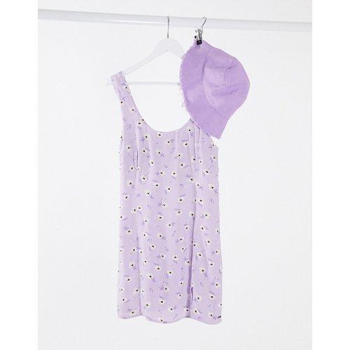 Robe débardeur à fleurs - Lilas - Pull&Bear - Modalova