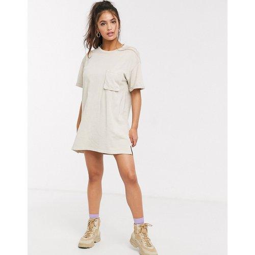 Robe t-shirt courte - Beige - Pull&Bear - Modalova