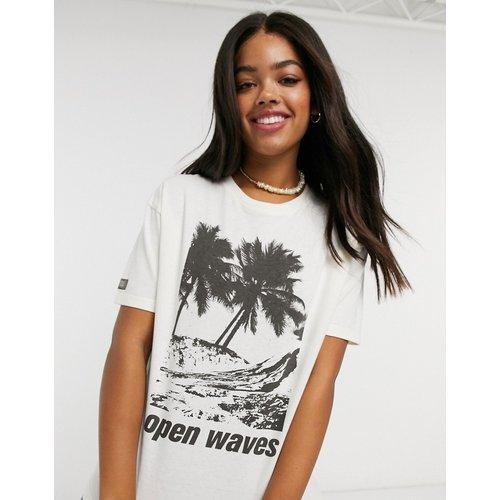 T-shirt à imprimé graphique palmier - Pull&Bear - Modalova
