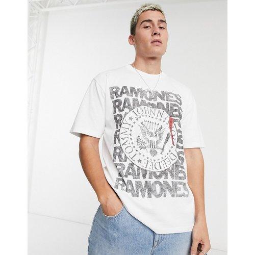 T-shirt à imprimé Ramones - Pull&Bear - Modalova
