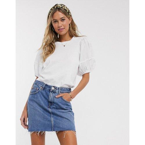 T-shirt à manches bouffantes en popeline - Pull&Bear - Modalova