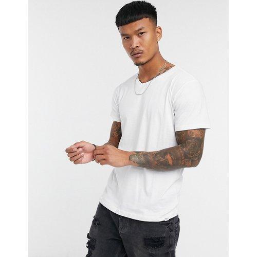 Pull&Bear - T-shirt col V - Blanc - Pull&Bear - Modalova