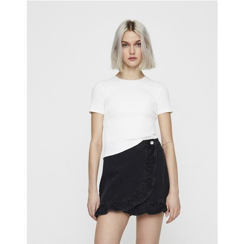 T-shirt côtelé coupe slim - Pull&Bear - Modalova