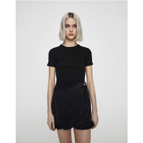 T-shirt coupe slim côtelé - Pull&Bear - Modalova