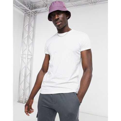 Pull&Bear - T-shirt moulant - Blanc - Pull&Bear - Modalova