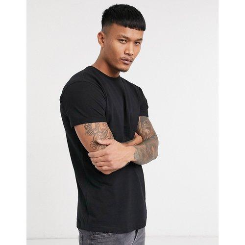 Pull&Bear - T-shirt moulant - Noir - Pull&Bear - Modalova