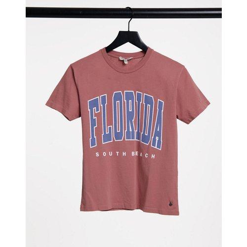 T-shirt style universitaire à inscription «Florida» - Pull&Bear - Modalova