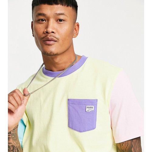 Downtown - T-shirt design color block - Exclusivité ASOS - Puma - Modalova