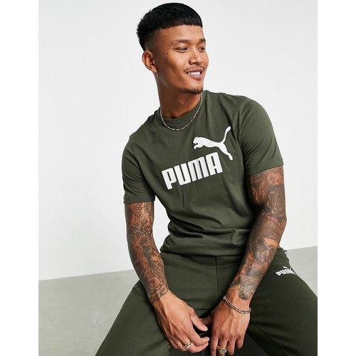 Essential - T-shirt avec grand logo - Kaki - Puma - Modalova