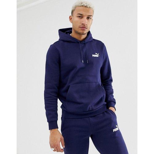 Essentials - Hoodie avec petit logo - Bleu marine - Puma - Modalova