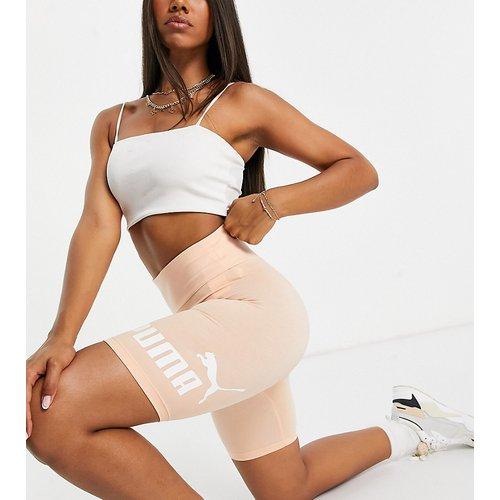 Essentials - Short legging à logo - Pêche - Puma - Modalova