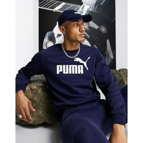 Essentials - Sweat-shirt avec grand logo - Bleu marine - Puma - Modalova