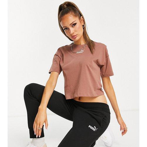 Essentials - T-shirt crop top avec logo - Puma - Modalova