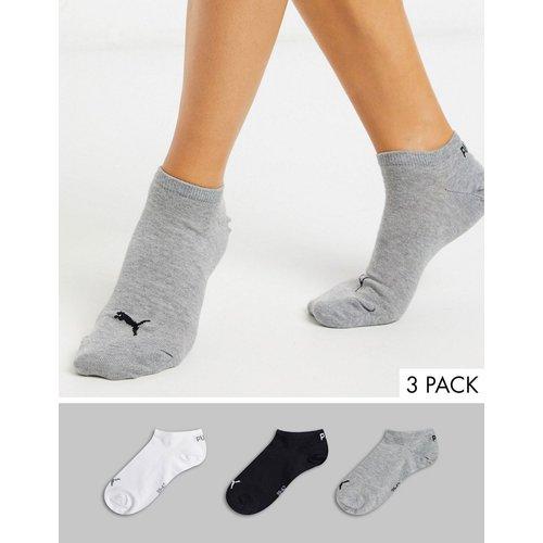 Lot de 3 paires de socquettes de sport - Noir, blanc et gris - Puma - Modalova