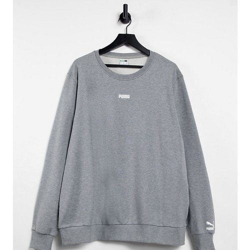 PLUS - Sweat-shirt à petit logo - moyen chiné - Puma - Modalova