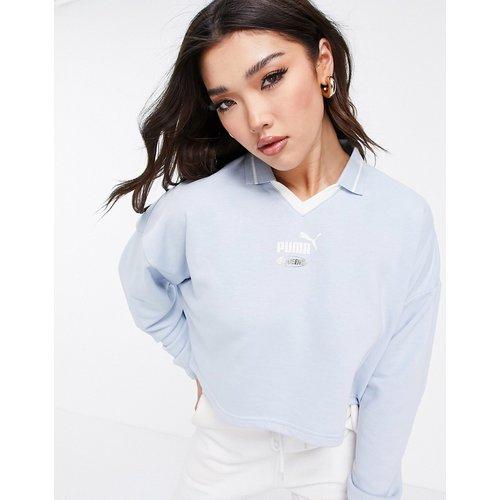 Queen - Sweat-shirt court oversize à col - pastel - Puma - Modalova