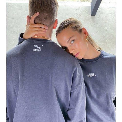 Sweat-shirt oversize à logo - Ébène délavé - Exclusivité ASOS - Puma - Modalova