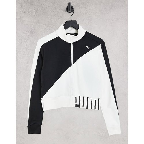 Veste de survêtement en maille stretch - et blanc - Puma - Modalova
