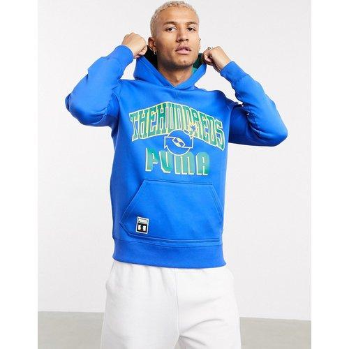 X The Hundreds - Hoodie réversible avec logo large style universitaire - Bleu et vert - Puma - Modalova