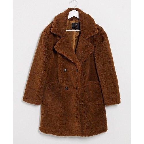 Manteau croisé en imitation peau de mouton - QED London - Modalova