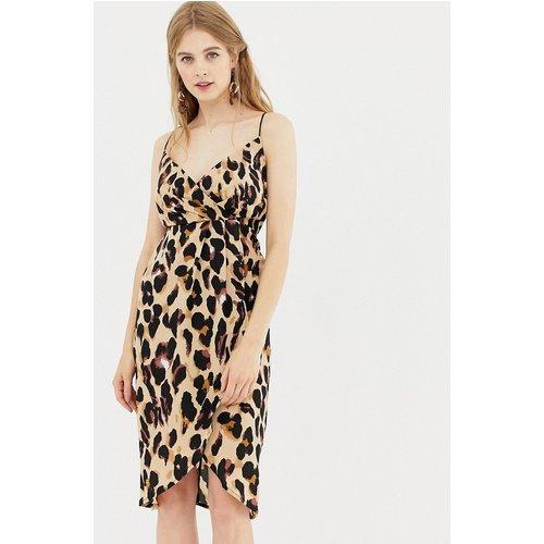 Robe portefeuille à imprimé léopard - QED London - Modalova