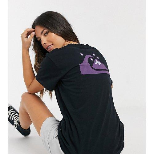T-shirt classique imprimé dans le dos exclusivité ASOS - Noir - Quiksilver - Modalova