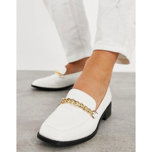 Aleema - Chaussures plates effet croco avec détail chaîne - Raid - Modalova