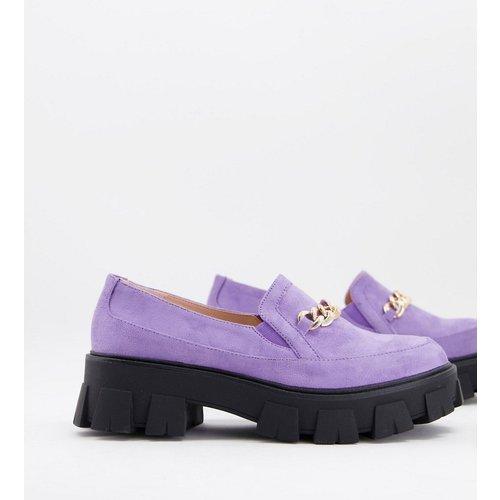 Alessio - Chaussures chunky plates avec chaîne dorée - Lilas - Raid - Modalova