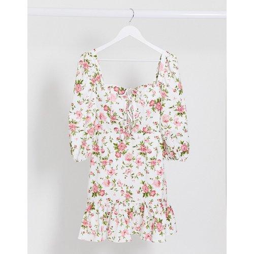 London- Robe à fleurs style milkmaidavec laçage - rare - Modalova