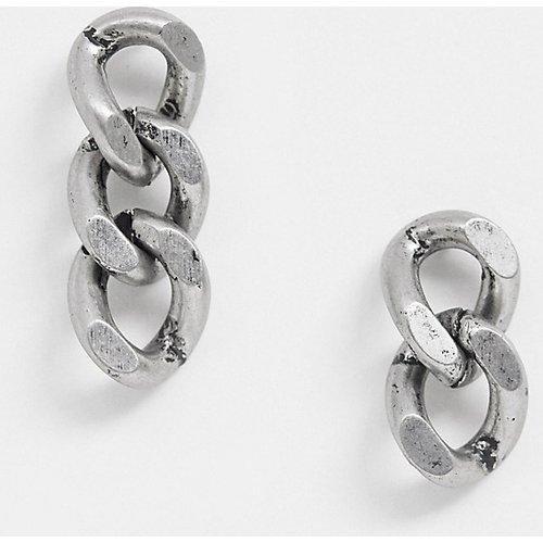 Inspired - Boucles d'oreilles à pendentif chaîne exclusivité ASOS - Argemt poli - Reclaimed Vintage - Modalova