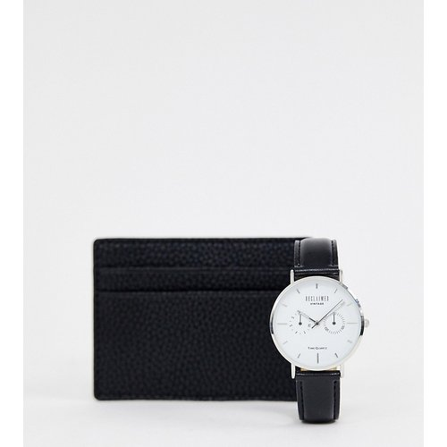 Inspired - Exclusivité ASOS - Coffret cadeau avec montre et porte-cartes - Reclaimed Vintage - Modalova