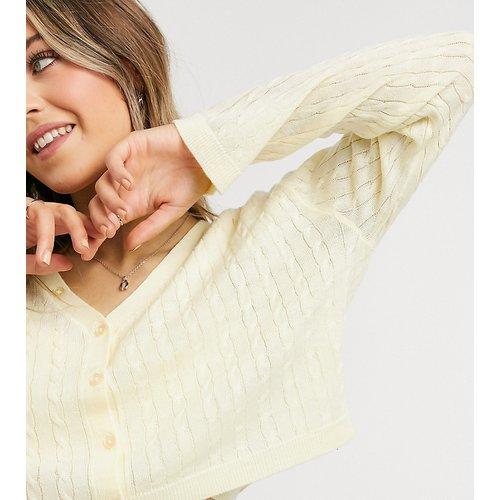 Inspired - Gilet court en tricot torsadé - beurre - Reclaimed Vintage - Modalova