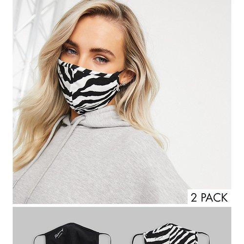 Inspired - Lot de 2 masques en jersey - et motif zèbre - Reclaimed Vintage - Modalova