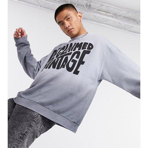 Inspired - Sweat-shirt à logo effet dip-dye - Anthracite - Reclaimed Vintage - Modalova