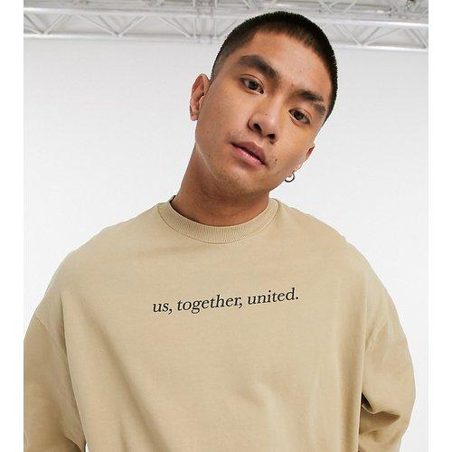 Inspired - Sweat-shirt unisexe à inscription - Kaki - Reclaimed Vintage - Modalova