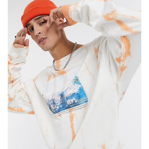 Inspired - Sweat-shirtà imprimé paysage et effet délavé - Reclaimed Vintage - Modalova