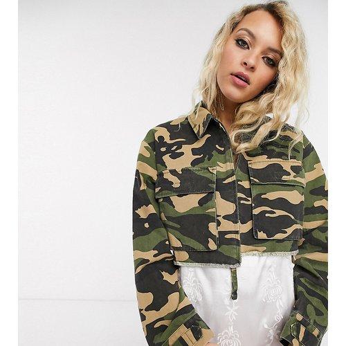 Inspired - Veste chemise courte avec poches - Camouflage - Reclaimed Vintage - Modalova