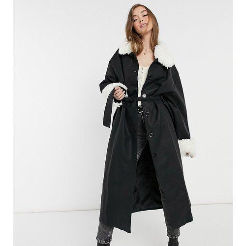 Inspired - Veste en imitation cuir avec col amovible en fausse fourrure - Reclaimed Vintage - Modalova